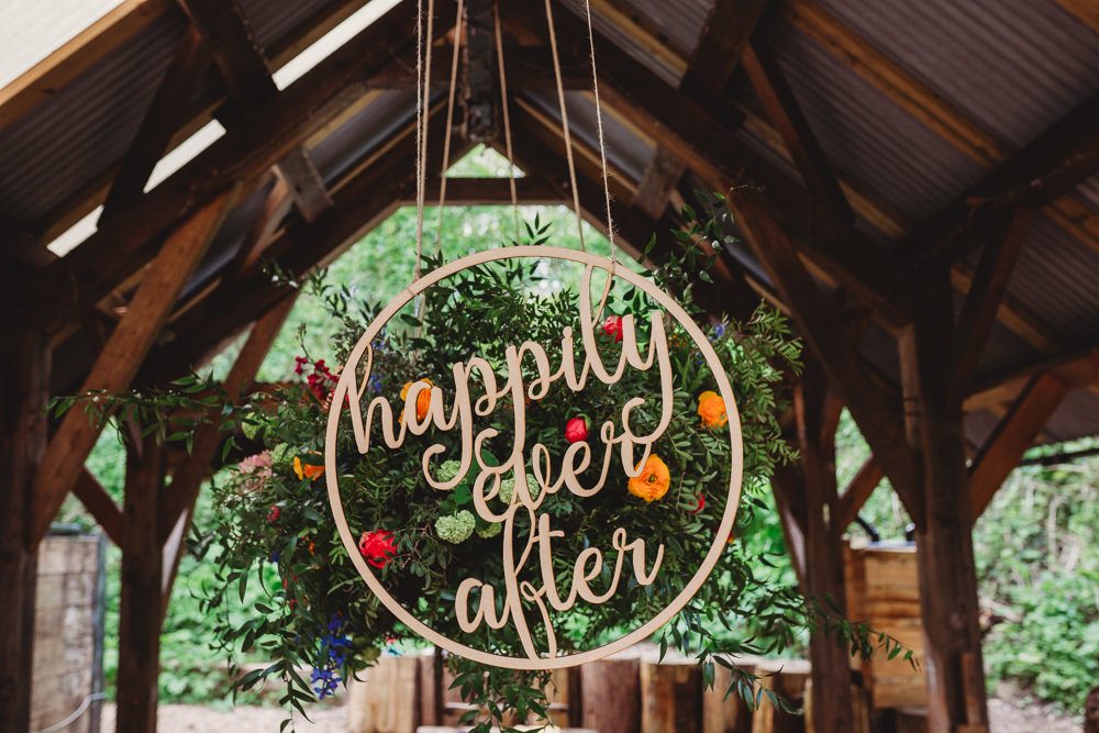 Wooden Hanging Round Gold Laser Cut Calligraphy Sign Signage Arnos Vale Weddings Ideas When Charlie Met Hannah Photography