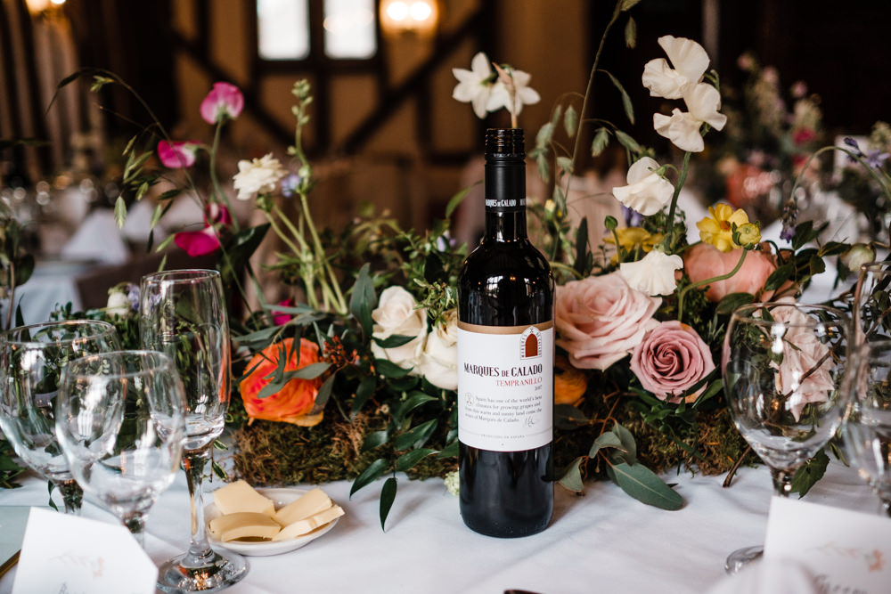 Table Centre Flowers Floral Moss Rose Cantley House Hotel Wedding Ross Hurley Photography