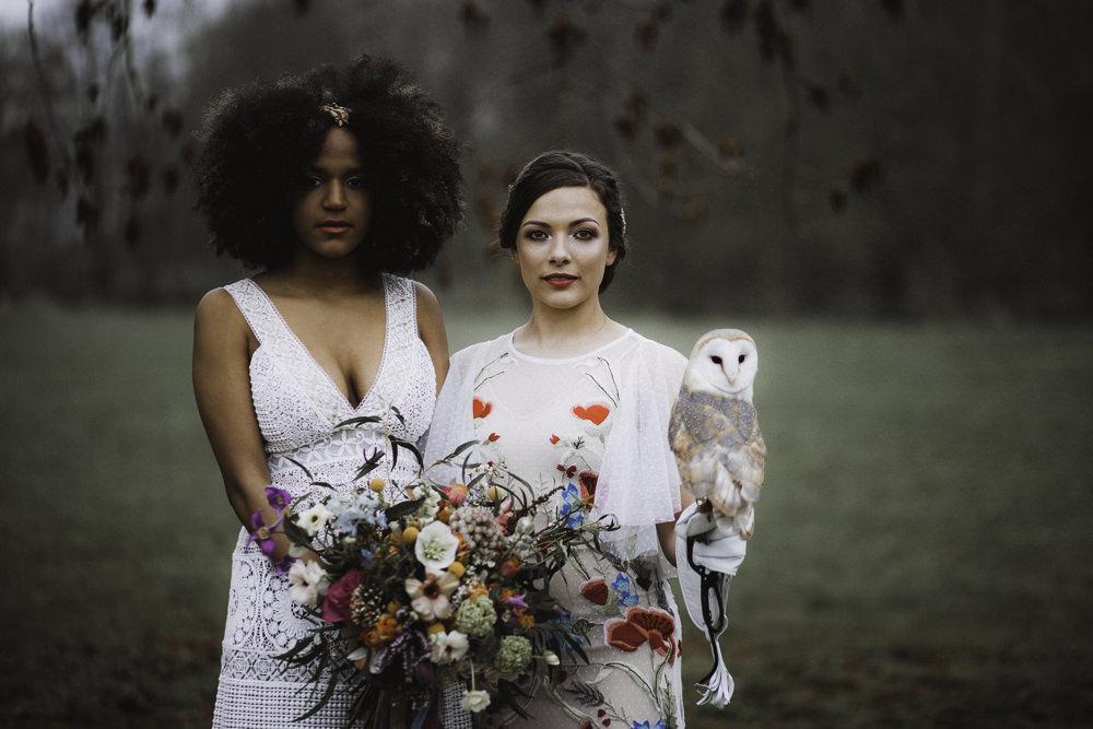 Owl Colourful Boho Festival Wedding Ideas Ella Violet Photography
