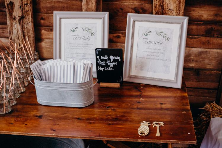 Menu Stationery Sign Creative Hertfordshire Barn Boho DIY Wedding Beard and Mane Photography