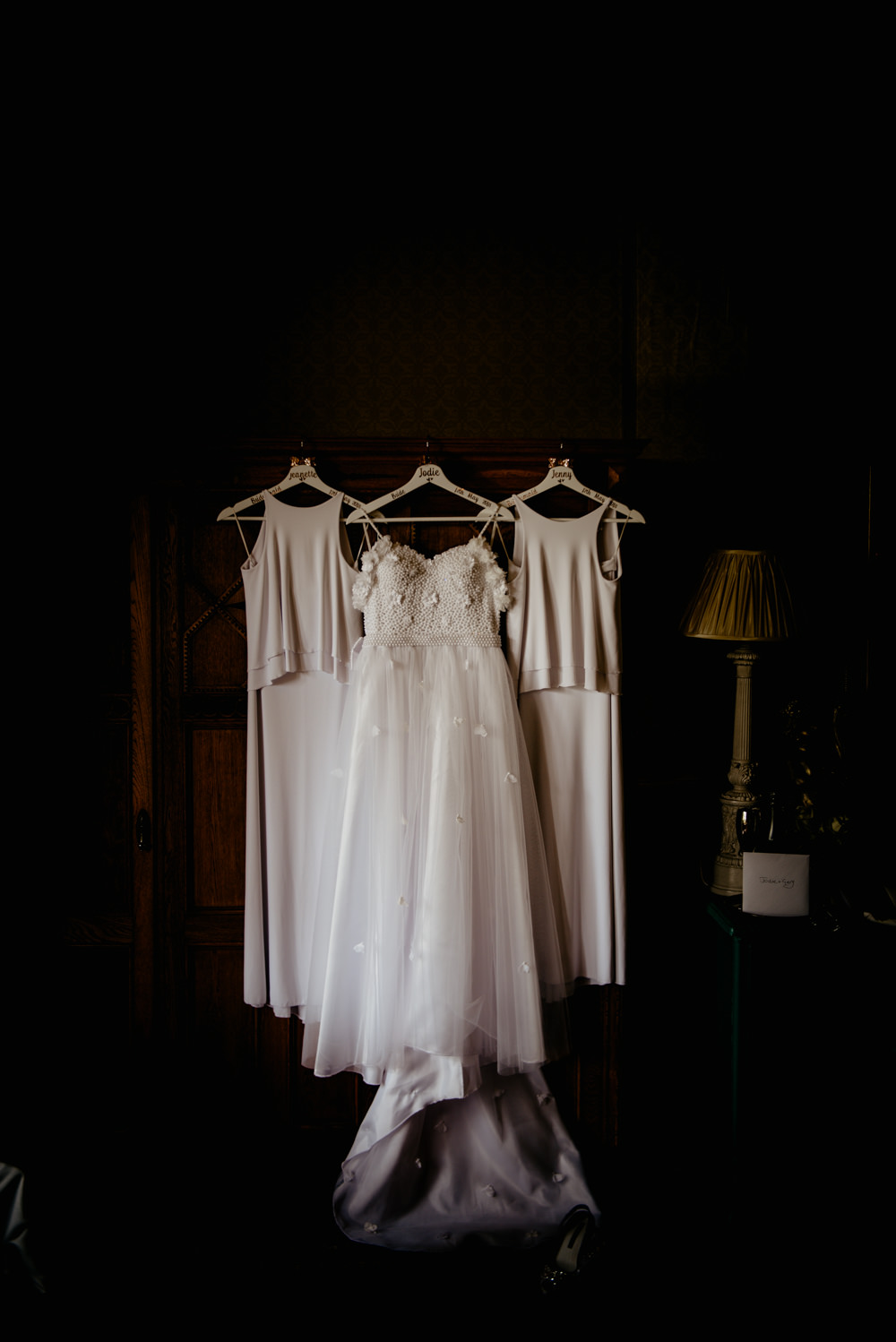 Dress Gown Bride Bridal Bridesmaids Crow Hill Wedding Tim Simpson Photography