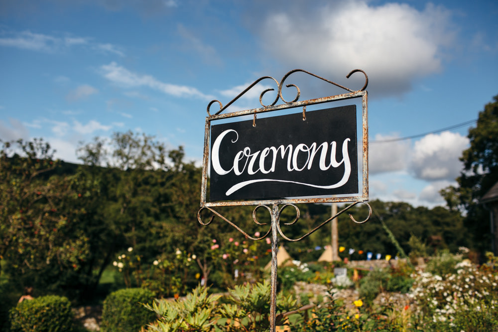 Chalk Black Board Calligraphy Sign Post Metal Devon Garden Wedding Tipi Freckle Photography