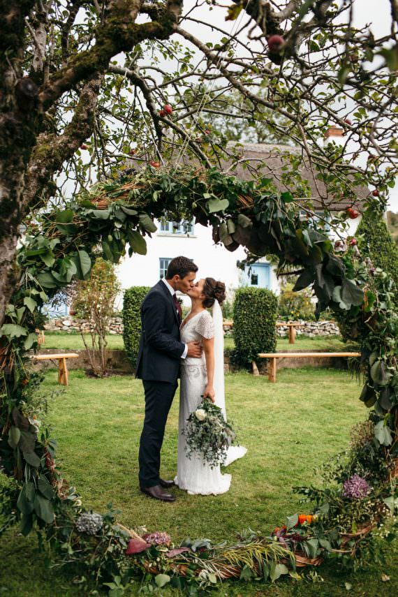 Devon Garden Wedding Tipi Freckle Photography