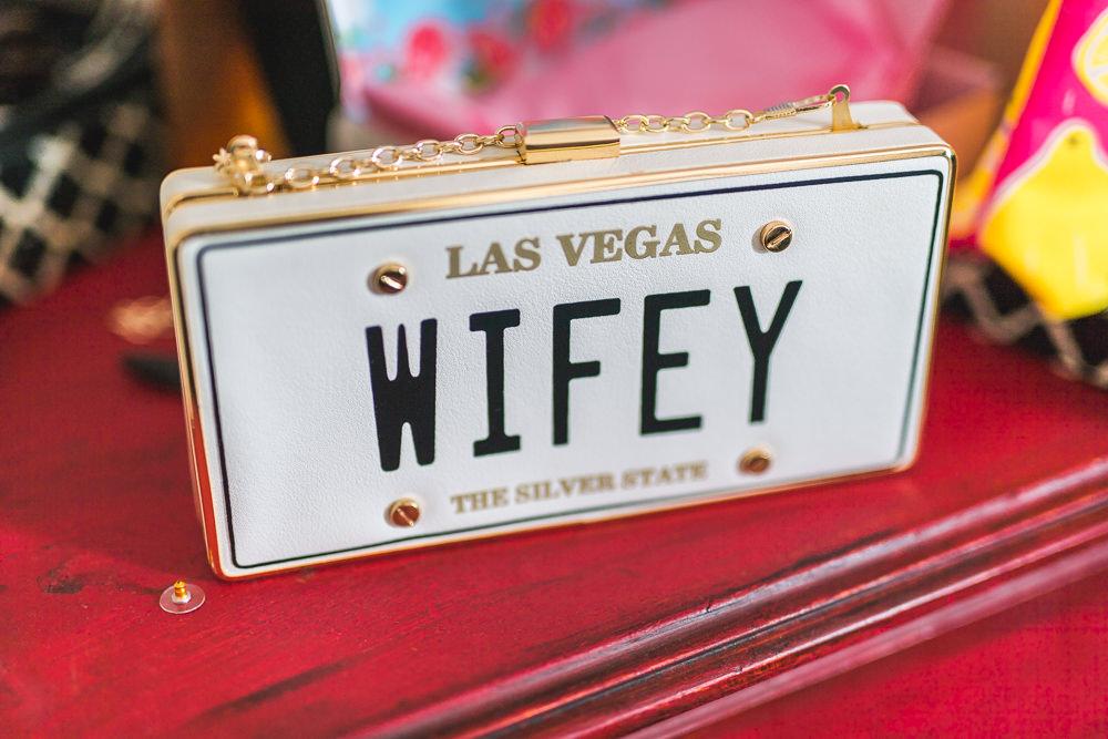 Las Vegas Wifey Clutch Fruit Space Hull Warehouse Wedding M&G Photographic