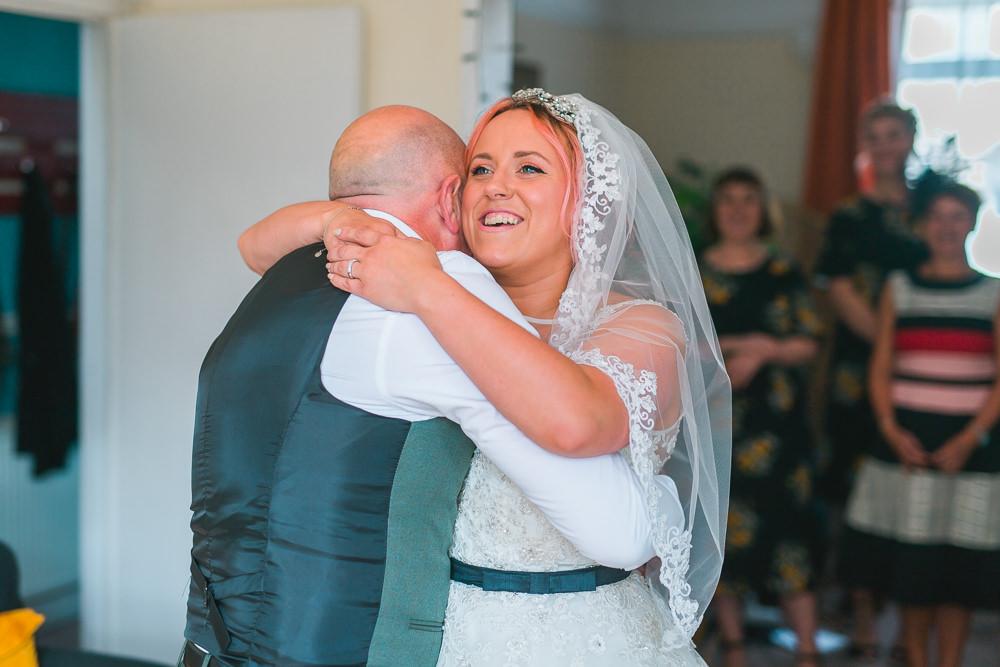 Bride Bridal Lace Veil Blue Belt Fruit Space Hull Warehouse Wedding M&G Photographic