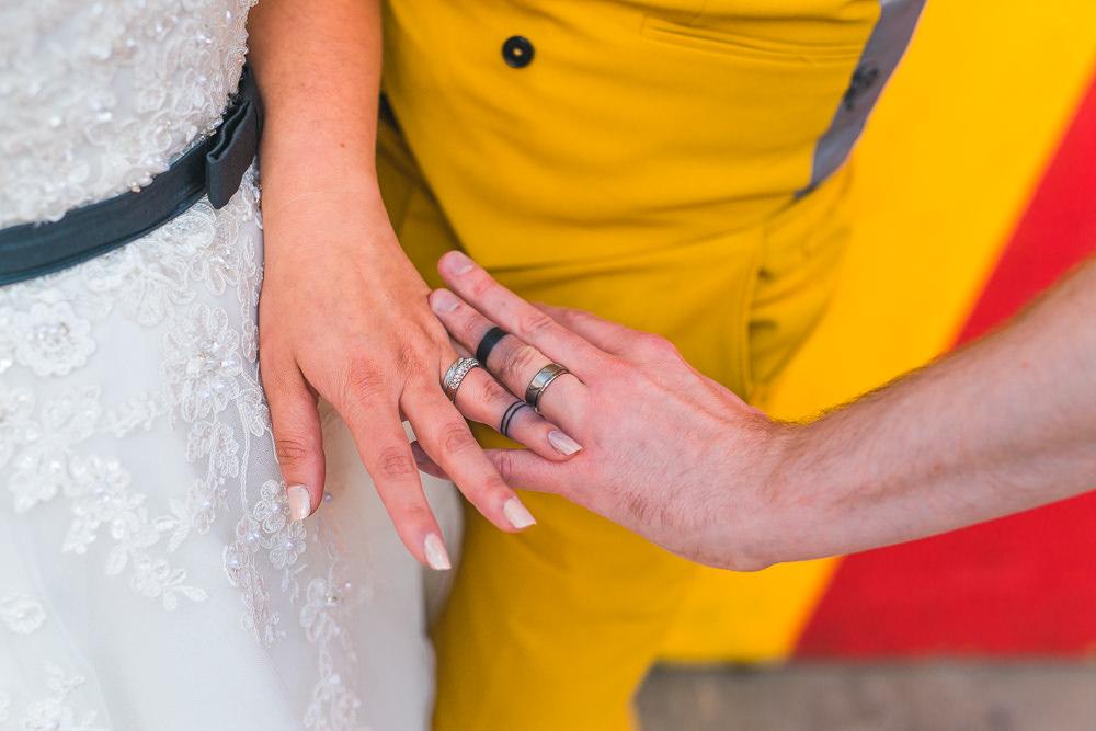 Wedding Ring Tattoo Bride Groom Fruit Space Hull Warehouse Wedding M&G Photographic