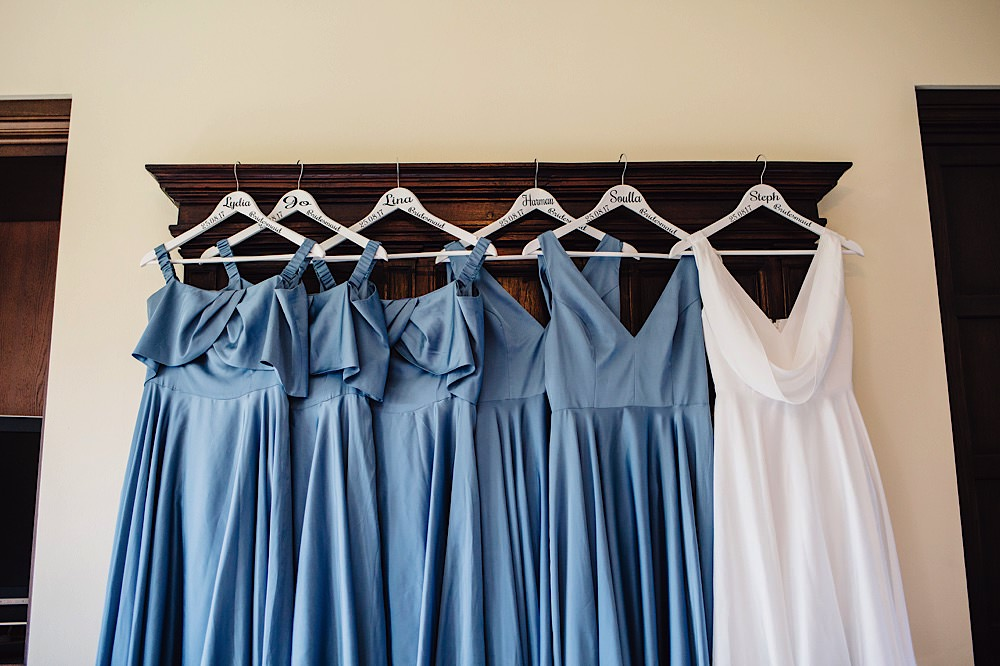 Custom Dress Hangers Bride Bridesmaids Great Fosters Wedding Roo Stain Photography