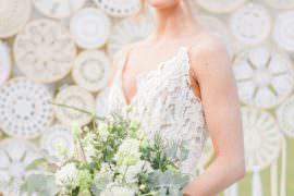 Dress Gown Bride Bridal Lace Straps Tulle Skirt Greenhouse Wedding Ideas Secret Herb Garden Siobhan Stewart Photography