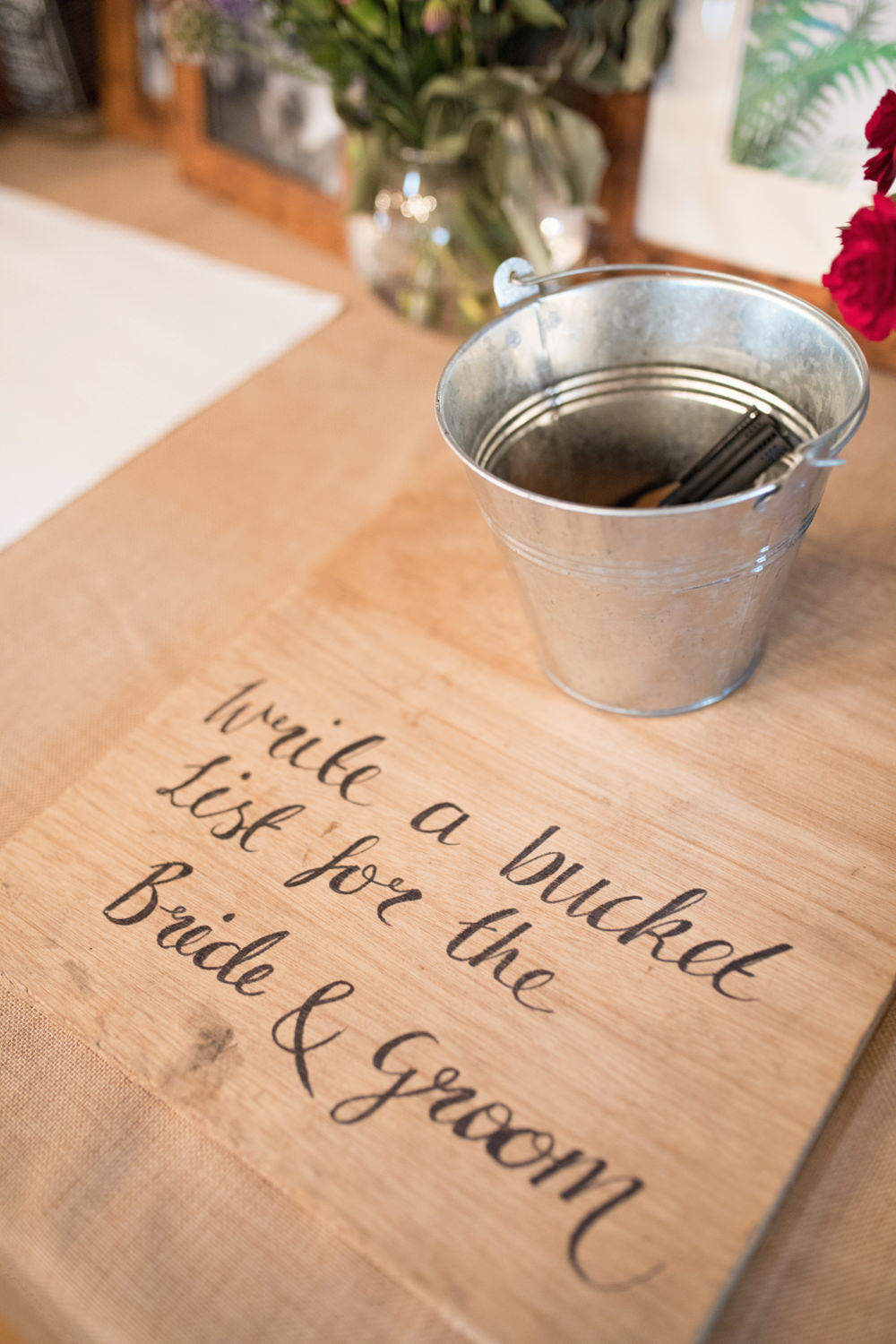 Bucket List Guest Book House Meadow Wedding Kerry Ann Duffy Photography