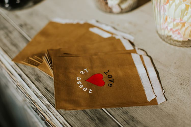 Love is Sweet Treat Paper Bag Le Petit Chateau Wedding Chris Randle Photography