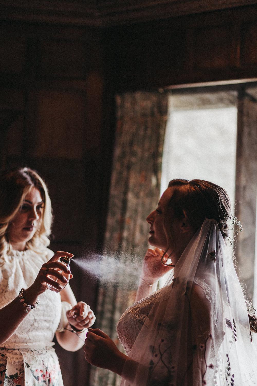 Bride Bridal Lace Strappy Dress Gown Veil Gypsophila Lympne Castle Wedding Kev Elkins Photography