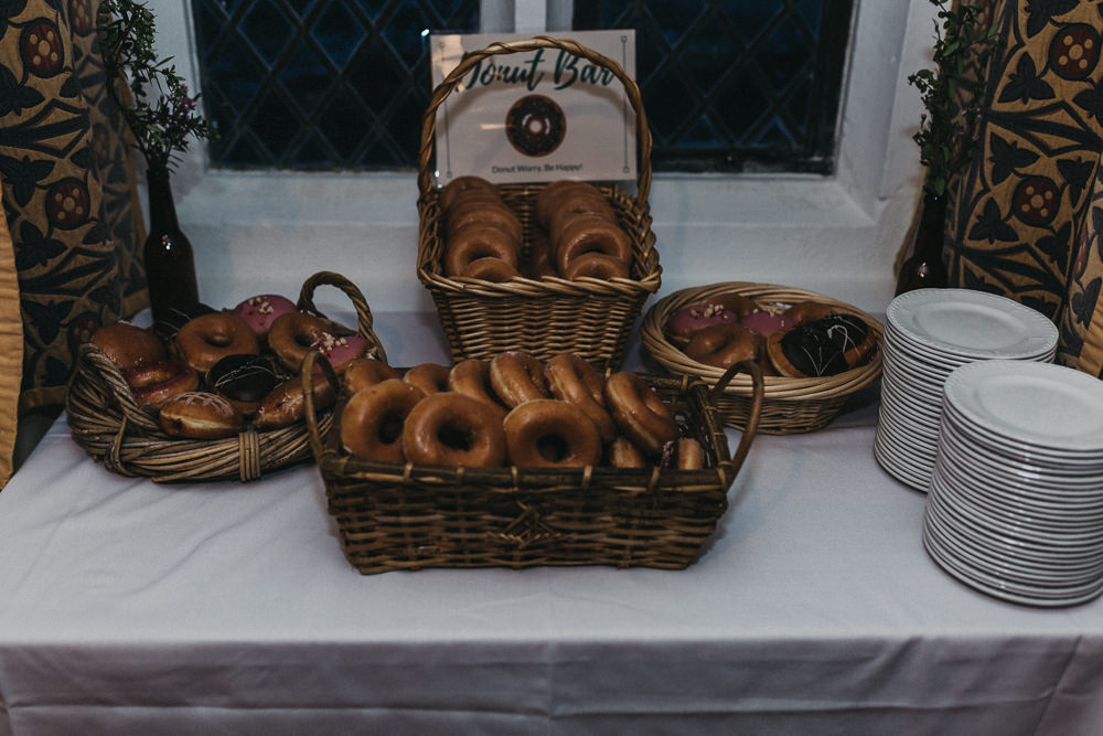 Donut Tavle Dessert Bar Lympne Castle Wedding Kev Elkins Photography