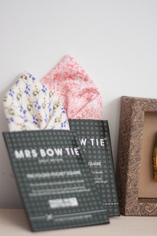 Mrs Bow Tie Whimsical Wonderland Weddings Accessories Grooms Groomsmen Style Pocket Squares