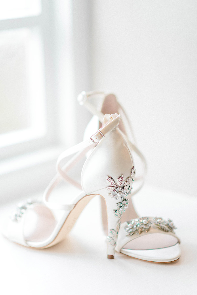 Embellished Heels Bride Bridal Shoes Harriet Wilde Newton Hall Wedding Sarah-Jane Ethan Photography