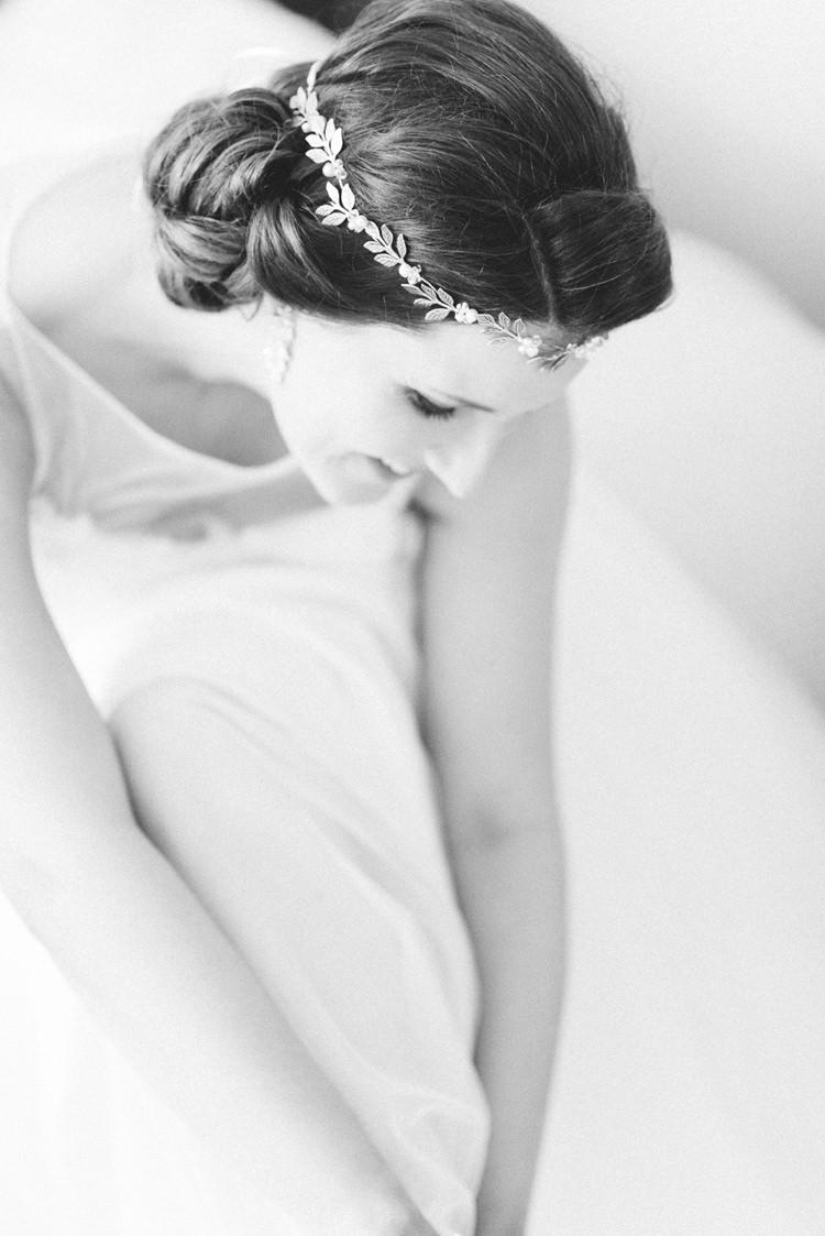 Bride Bridal Prep Hair Vine Accessory Newton Hall Wedding Sarah-Jane Ethan Photography