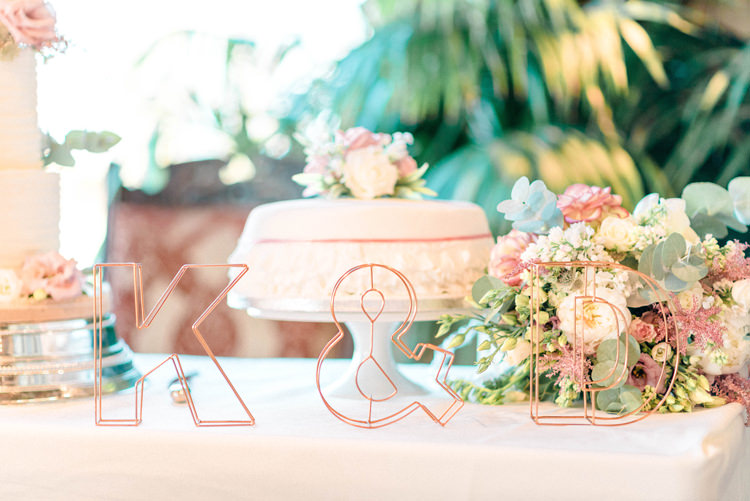 Wire Letters Newton Hall Wedding Sarah-Jane Ethan Photography