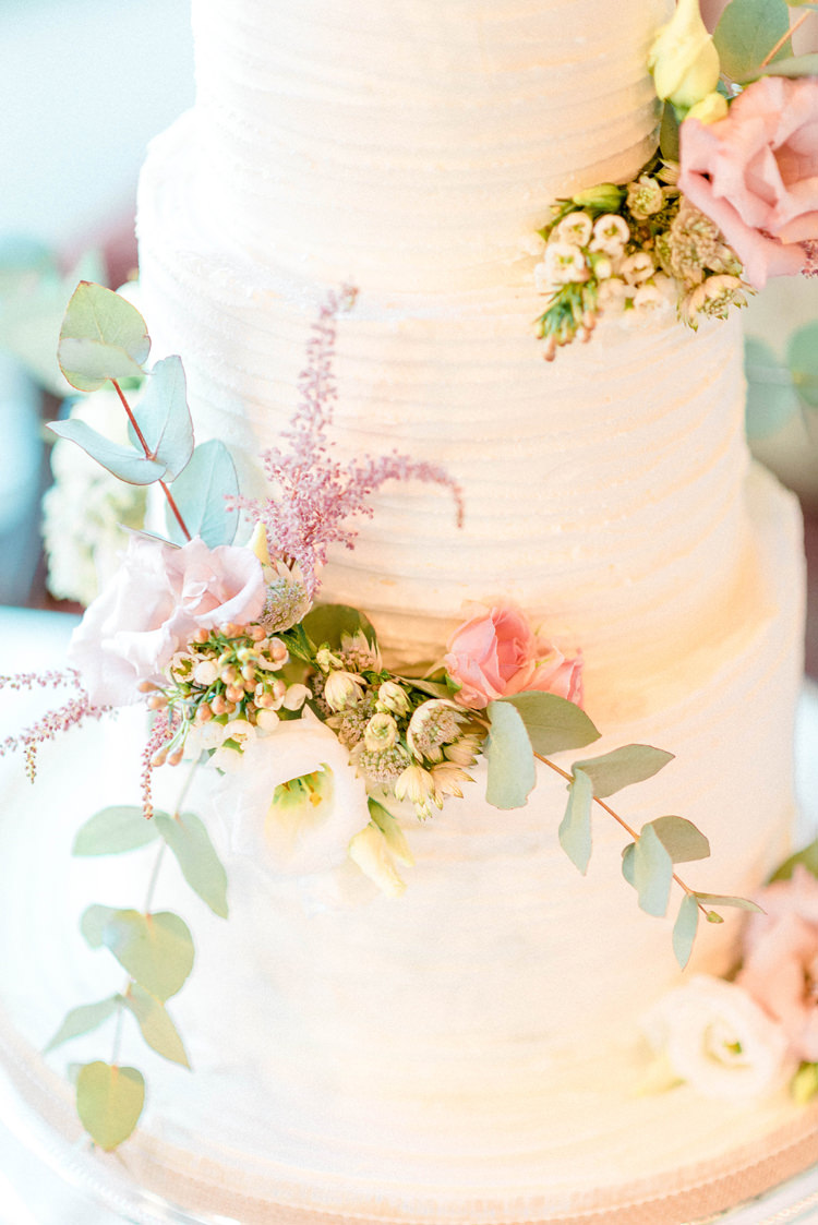 Buttercream Cake Flowers Pretty Newton Hall Wedding Sarah-Jane Ethan Photography