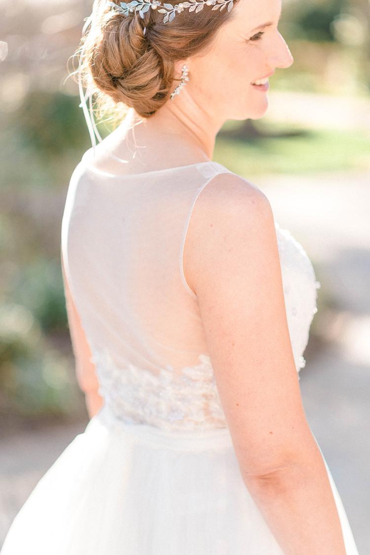 Bride Bridal Hair Style Newton Hall Wedding Sarah-Jane Ethan Photography