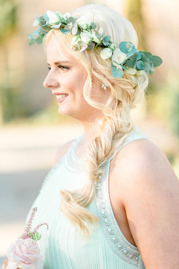 Hair Bridesmaid Plait Braid Flower Crown Newton Hall Wedding Sarah-Jane Ethan Photography