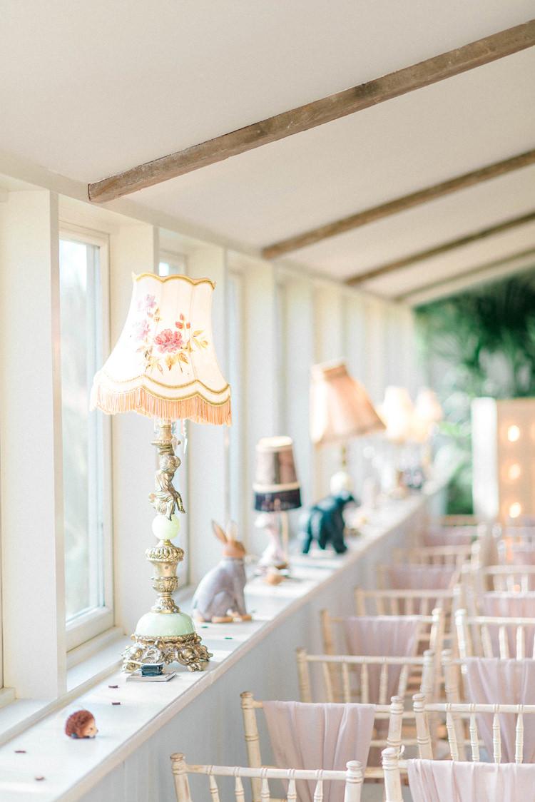Lampshades Decor Newton Hall Wedding Sarah-Jane Ethan Photography