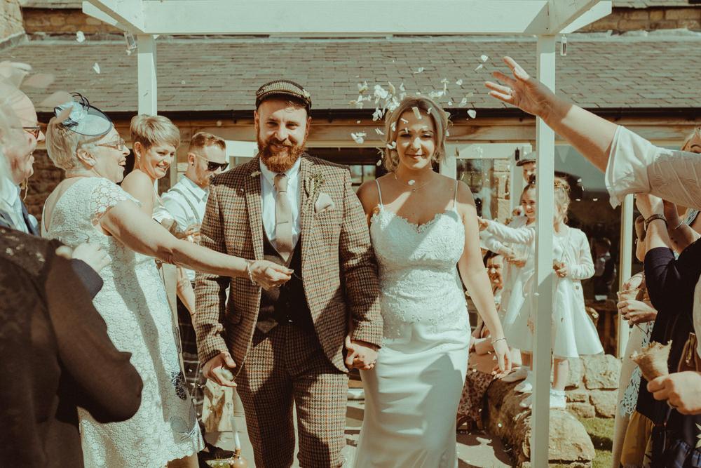 Confetti Throw Northside Farm Wedding Belle Art Photography