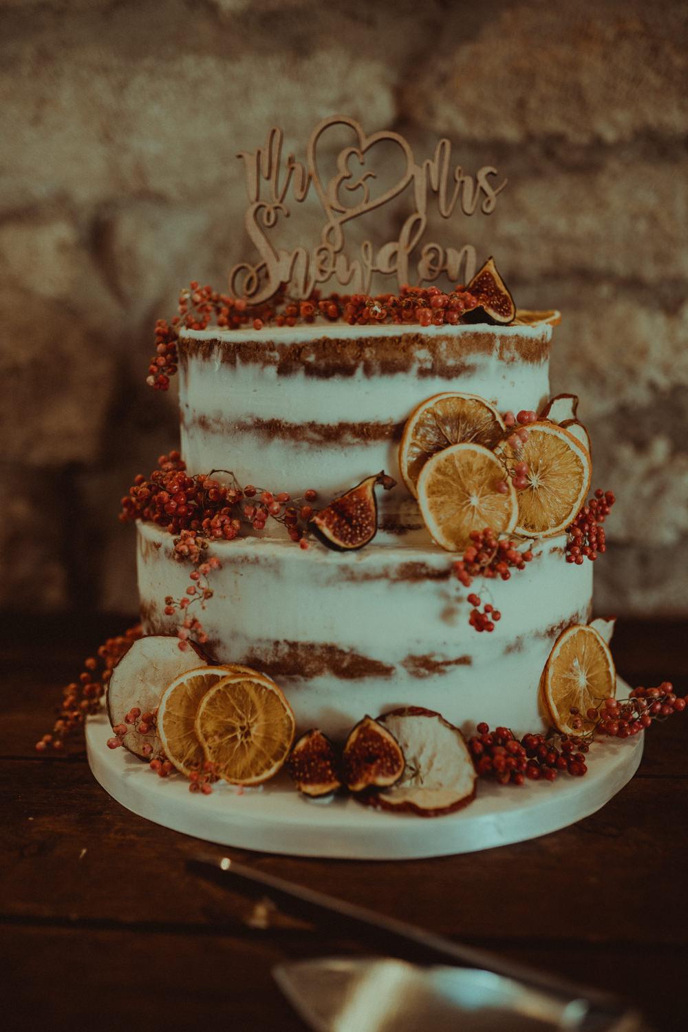 Semi Naked Cake Fruit Berries Wooden Topper Northside Farm Wedding Belle Art Photography