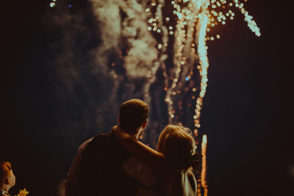 Fireworks Northside Farm Wedding Belle Art Photography