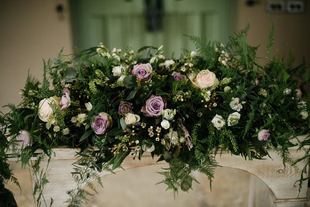 Foliage Greenery Purple Rose Fireplace Runner Orange Tree House Wedding Winter You Them Us Photography
