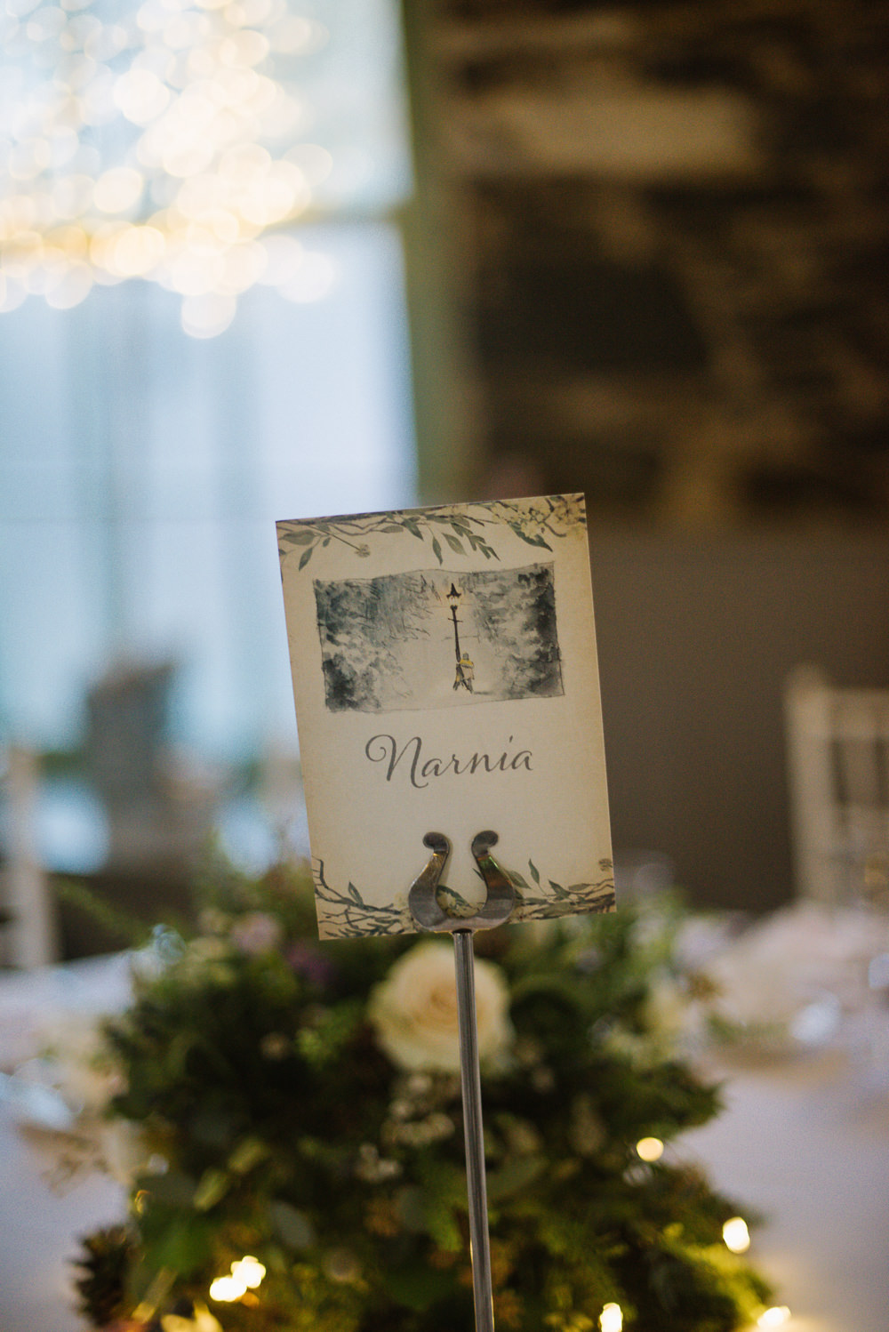 Table Name Narnia Watercolour Drawing Orange Tree House Wedding Winter You Them Us Photography