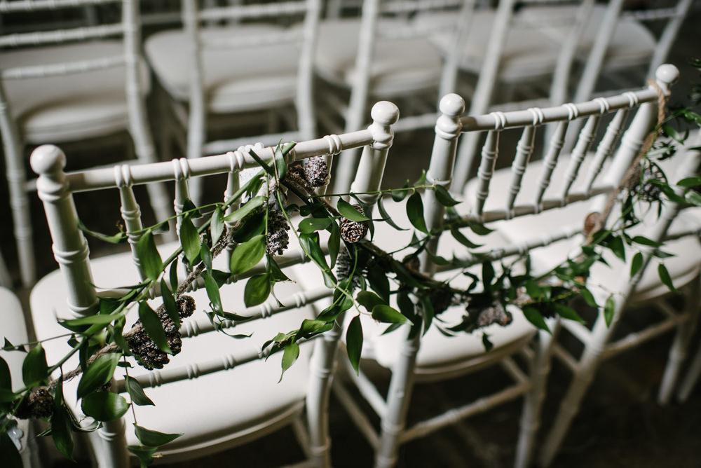 Foliage Decor Garland Chair Orange Tree House Wedding Winter You Them Us Photography