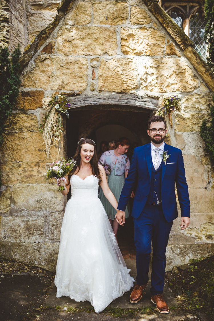 Church Just Married Exit Rustic Relaxed Farm Wedding Photography34