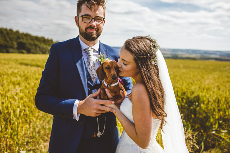 Dog Pet Rustic Relaxed Farm Wedding Photography34