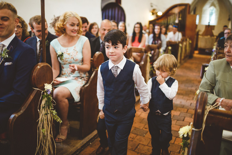 Page Boys Waistcoats Ties Blue Trousers Rustic Relaxed Farm Wedding Photography34