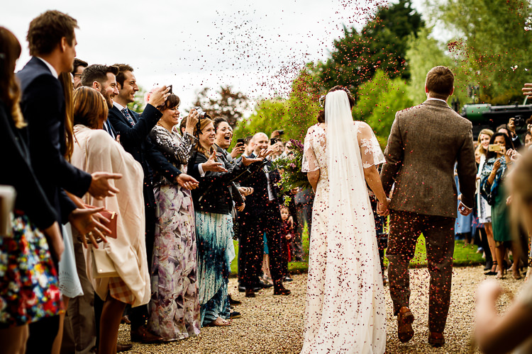 Confetti Throw South Farm Wedding Midsummer Night's Dream Lina and Tom Photography