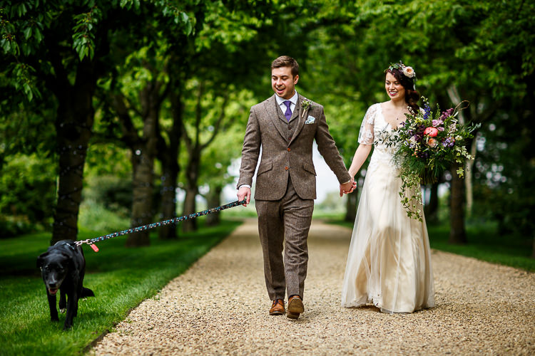Brown Tweed Suit Groom Tie South Farm Wedding Midsummer Night's Dream Lina and Tom Photography