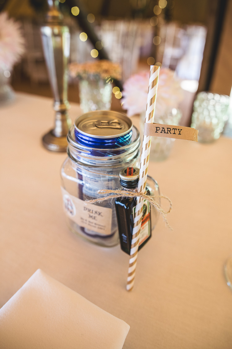 Drink Favours Jar Straws Tipi Garden Wedding Wedding Foxley Photography