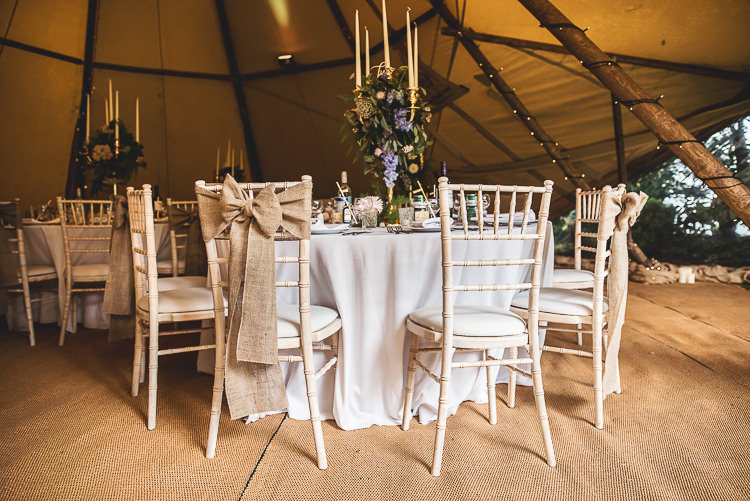 Hessian Bow Burlap Chairs Tipi Garden Wedding Wedding Foxley Photography