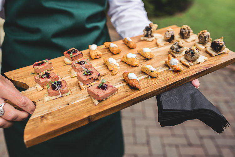 Canapes Tipi Garden Wedding Wedding Foxley Photography