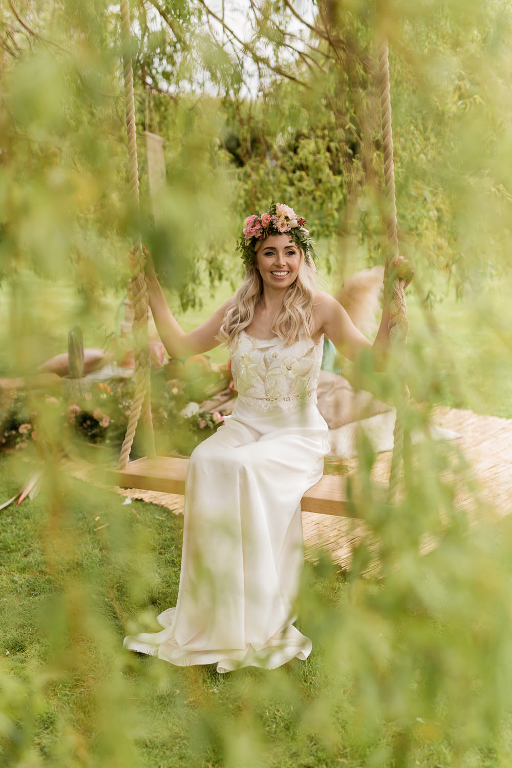 Dress Gown Bride Bridal Separeates Skirt Top Tropical Boho Countryside Wedding Ideas Sarah Brookes Photography