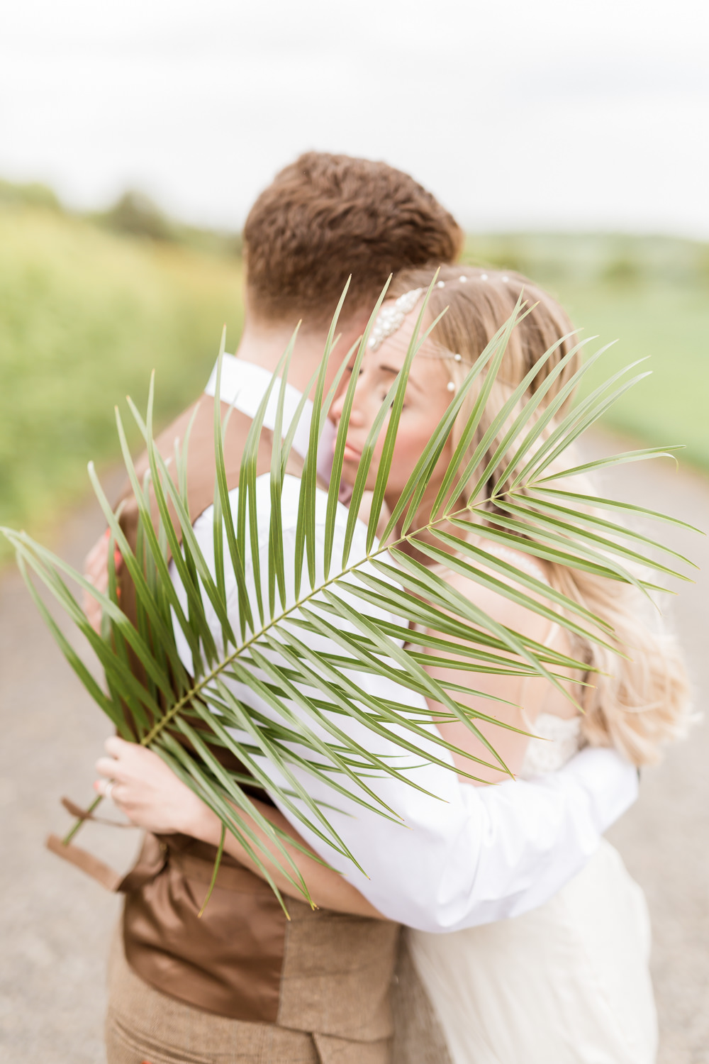 Palm Leaves Tropical Boho Countryside Wedding Ideas Sarah Brookes Photography