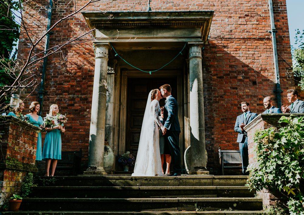 Outdoor Ceremony UK Walcot Hall Wedding Shropshire Bridgwood Wedding Photography