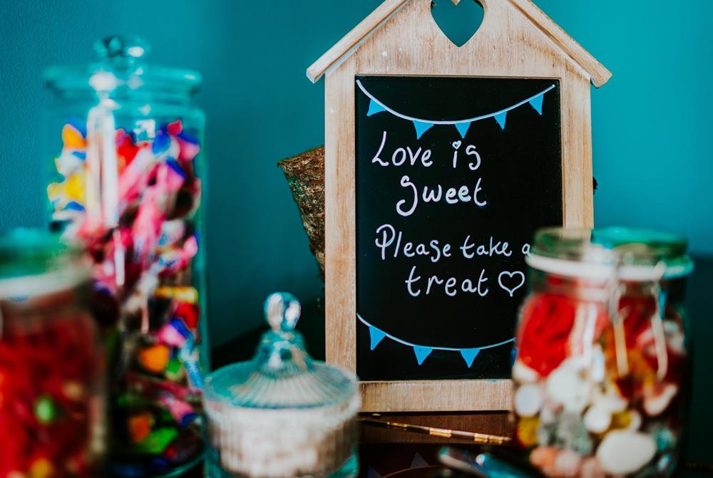 Sweets Sweetie Table Walcot Hall Wedding Shropshire Bridgwood Wedding Photography