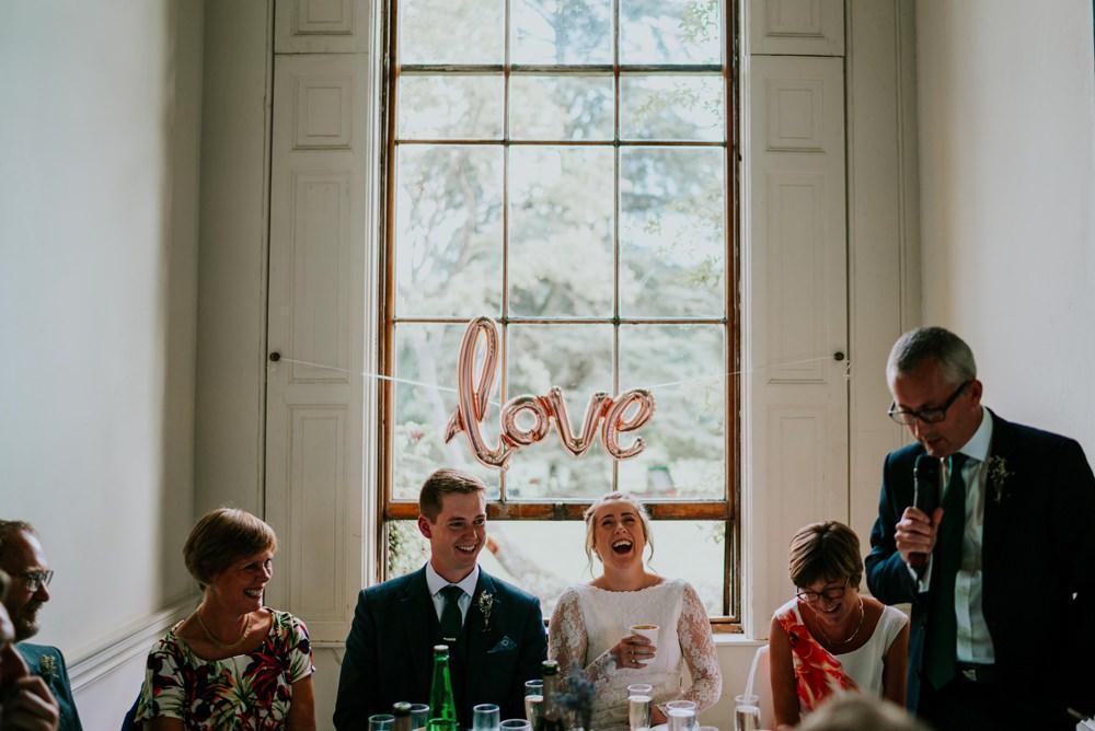 Love Balloon Top Table Walcot Hall Wedding Shropshire Bridgwood Wedding Photography