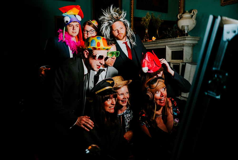 Photo Booth Selfie Props Walcot Hall Wedding Shropshire Bridgwood Wedding Photography