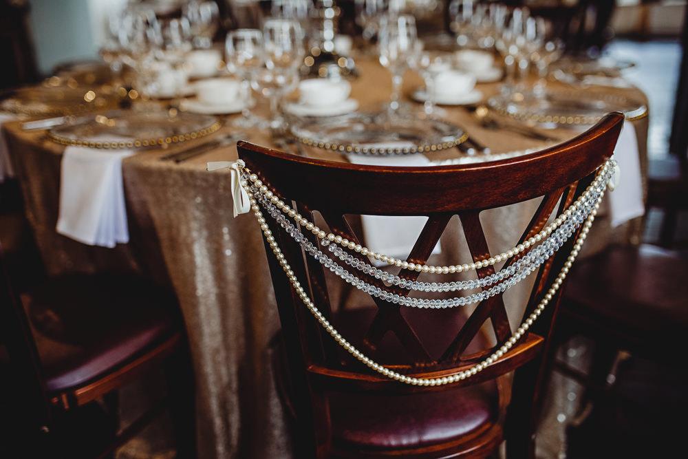 Bead Chair Backs West Mill Wedding HBA Photography