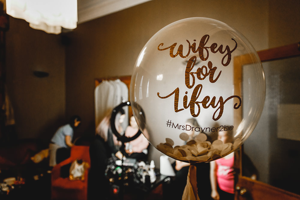 Personalised Giant Balloon Confetti West Mill Wedding HBA Photography