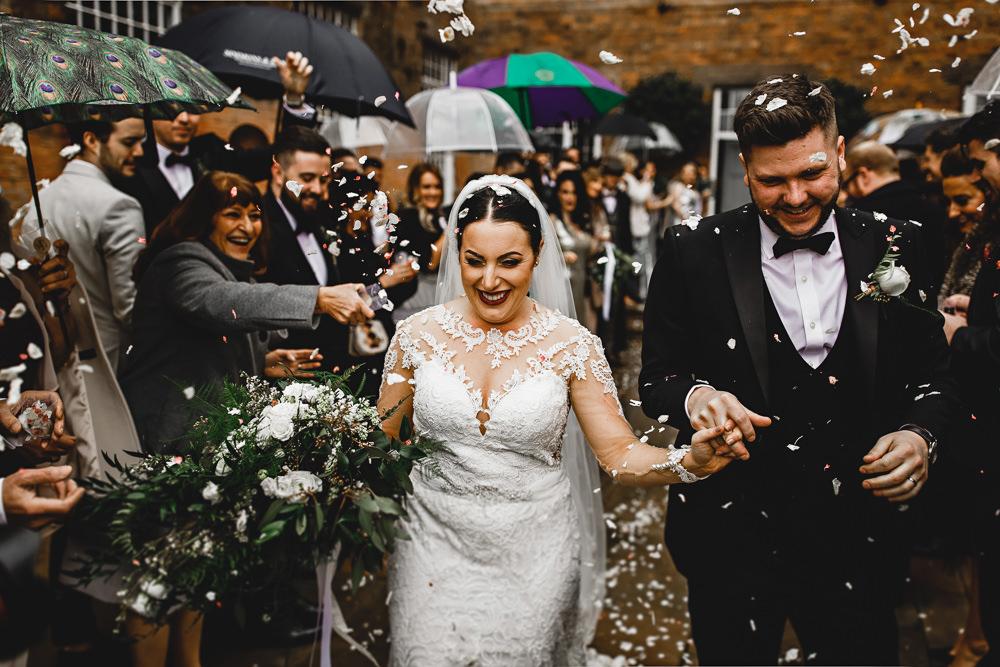 Confetti Throw West Mill Wedding HBA Photography