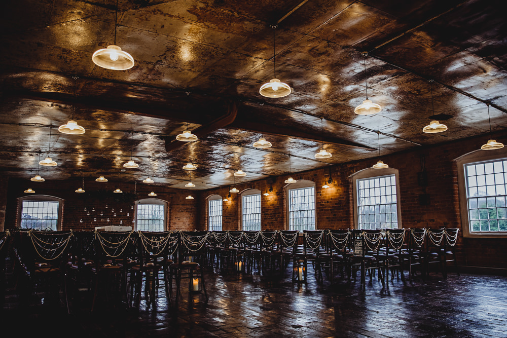 Industrial Ceremony Venue West Mill Wedding HBA Photography