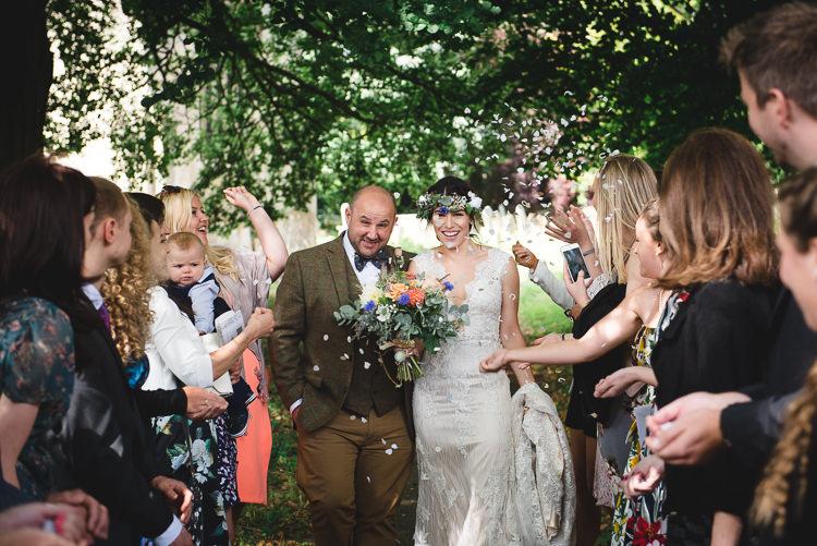 Confetti Wick Bottom Barn Wiltshire Wedding Heline Bekker Photography