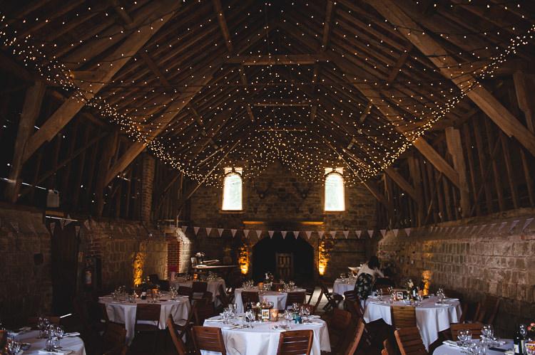 Fairy Lights Canopy Wick Bottom Barn Wiltshire Wedding Heline Bekker Photography